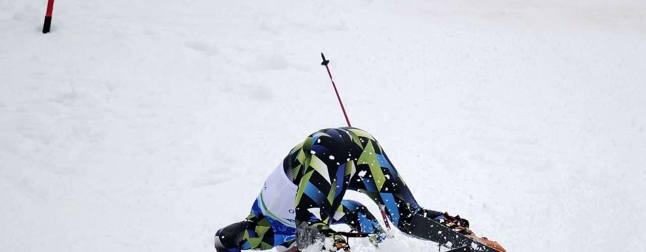 La carrera de slalom también es peligrosa para los hombres, como lo demostró el noruego Lars Elton Myhre en Vancouver 2010.