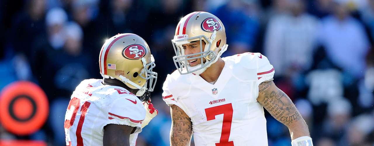 Their rivals will be the San Francisco 49ers after Colin Kaepernick threw for a touchdown and rushed for another in the 23-10 win over the Carolina Panthers to reach their third consecutive NFC Championship Game.