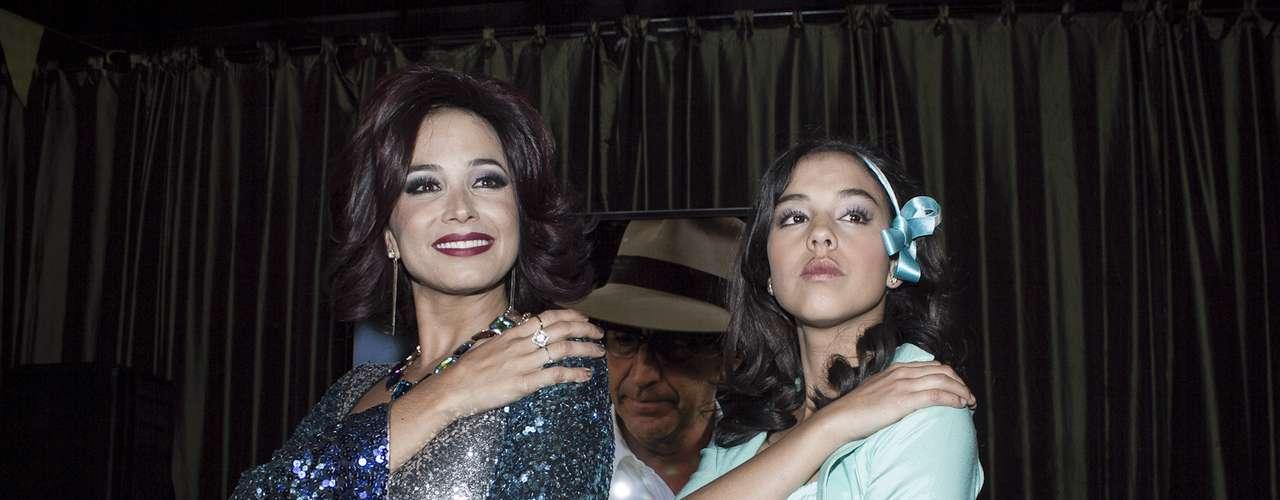 'La ronca de oro'mostró a los medios de comunicación su primer capítulo en un restaurante al norte de Bogotá. Con un emotivo concierto se llevó a cabo el lanzamiento de la serie inspirada en la vida de Helenita Vargas. Majida Issa y Ana María Estupiñan interpretaron los éxitos de la cantante.
