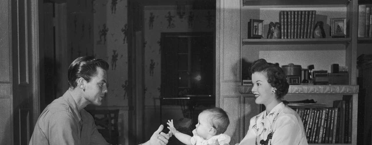 La actriz y su marido en 1949.