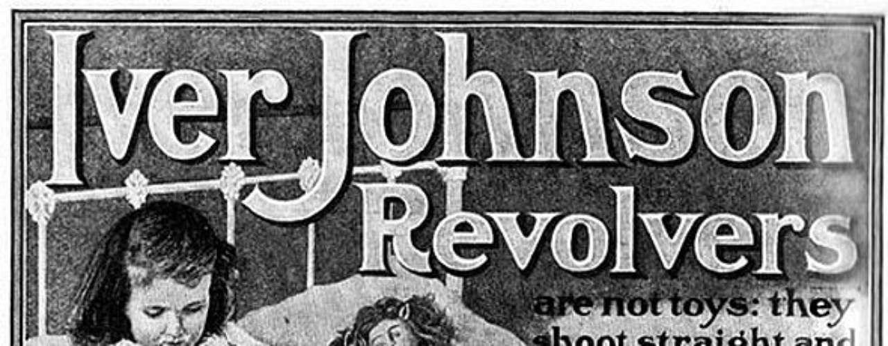 Revólveres Iver Johnson no tuvo mejor idea que usar la imagen de una niña y su muñeca para promocionarsecomo \