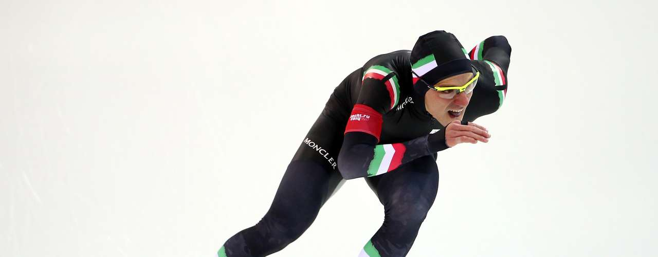 Mirko Nenzi of Italy competes during the Men's 1000m Speed Skating event