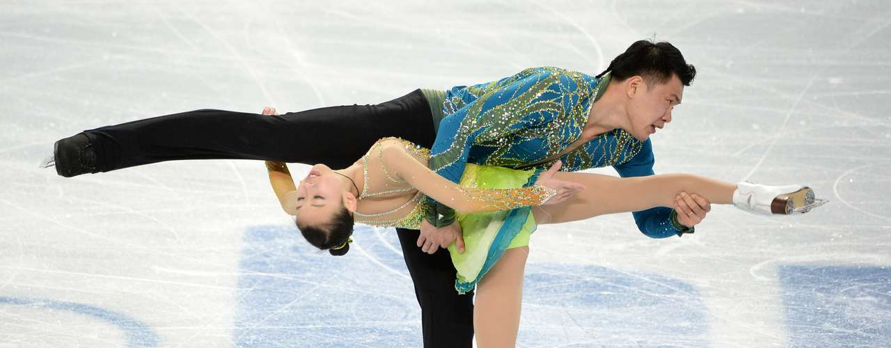 China's Peng Cheng and China's Zhang Hao perform their Figure Skating Pairs Free Program.