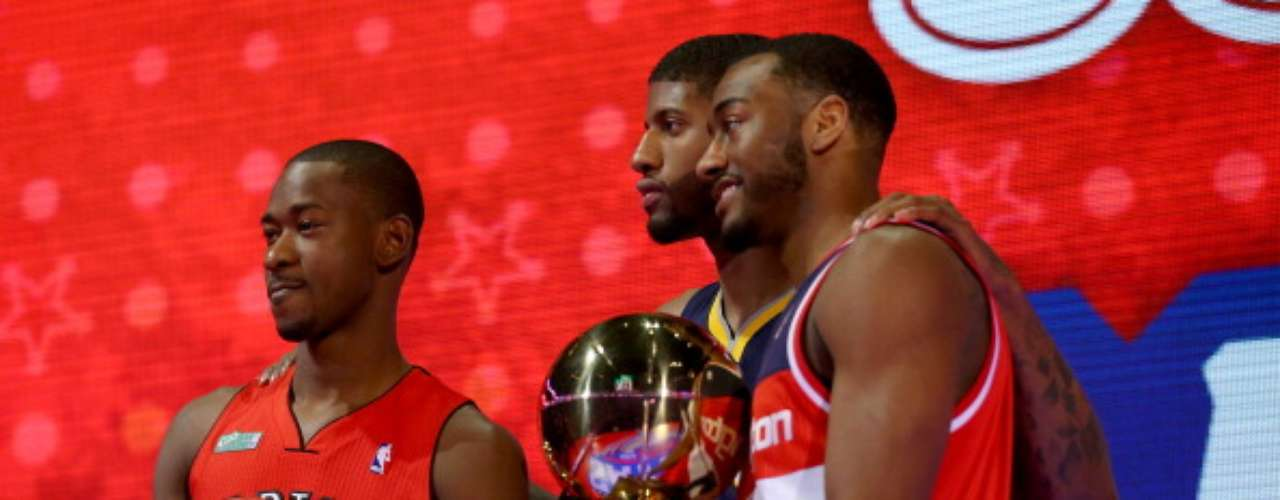 Terrence Ross de los Raptors, John Wall de Wizards y Paul George de Pacers fueron los vencedores en el All Star Weekend de la NBA.