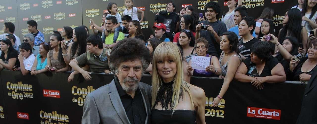 "Adriano Castillo, conocido popularmente como ""Compadre Moncho"", y su esposa, la vedette Beatriz Alegret."