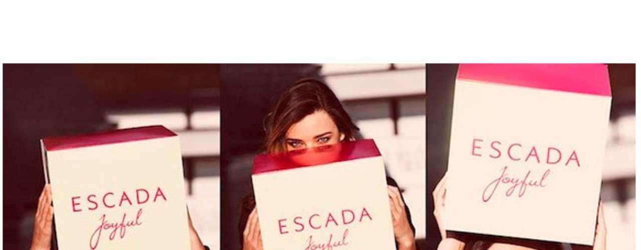 Con una imagen fresca y muy alegre Miranda Kerr colabora con Escada Joyful, \