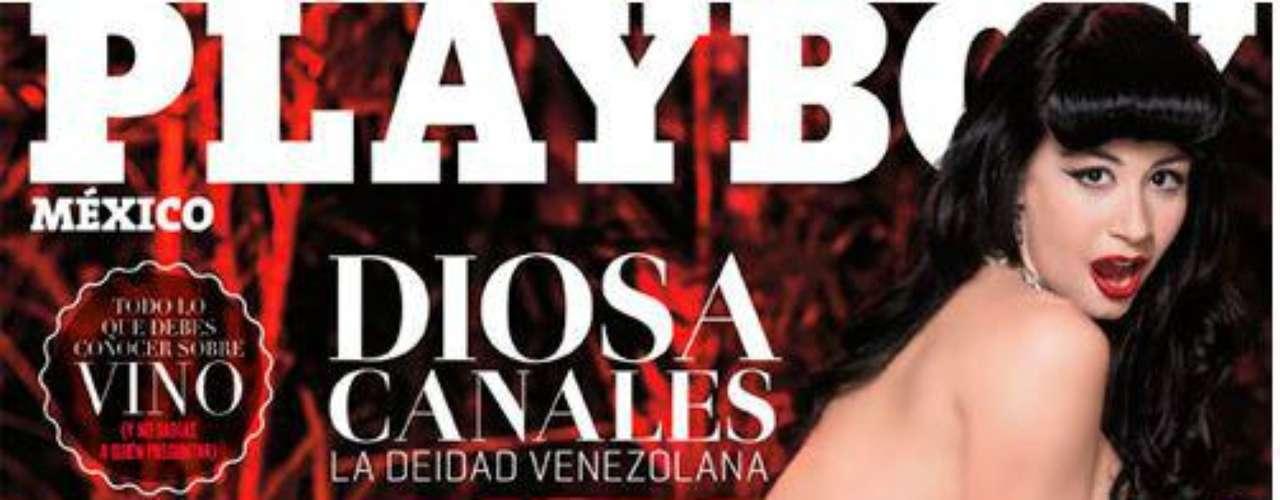 Diosa Canales.- Cargada de sensualidad, la venezolana posó para la portada y dejó boquiabiertos a sus seguidores.