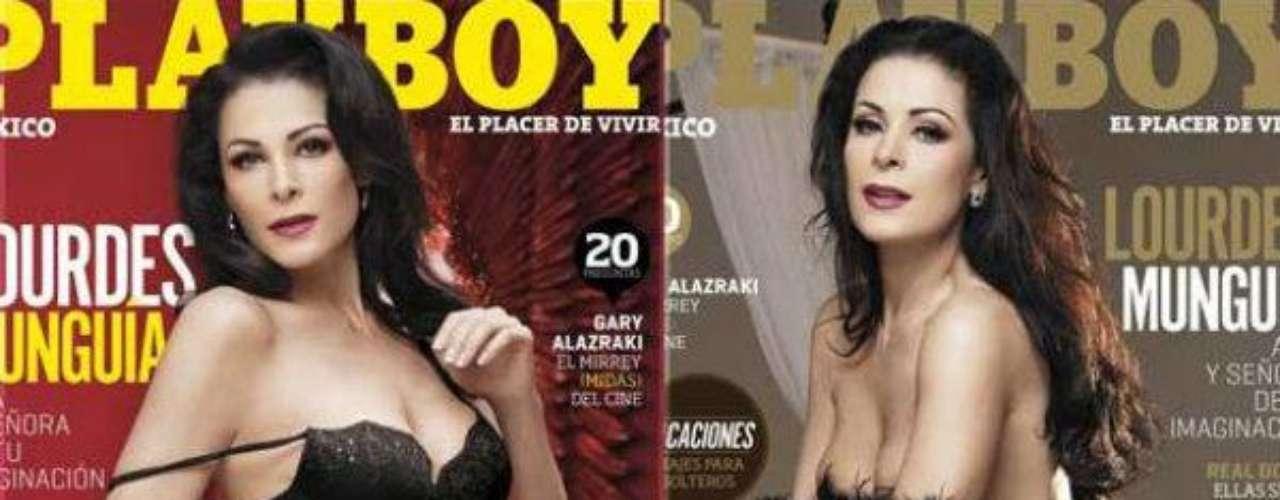 Lourdes Munguía.-La actriz mexicana posó por segunda vez en la revista Playboy México a sus 52 años de edad donde demostró que se ve ¡espectacular!