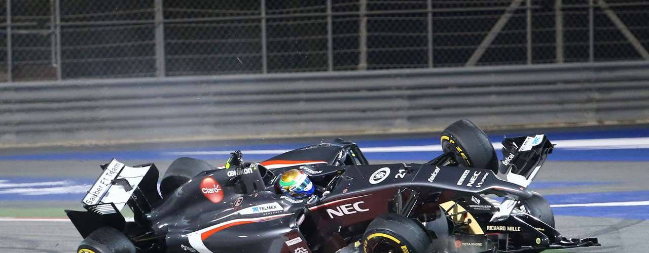 El incidente ocurrió en la vuelta número 40 del Gran Premio de Bahréin.