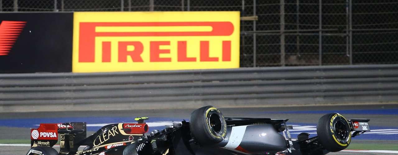 Tras el accidente, el auto de Gutiérrez ya no pudo seguir en la carrera.