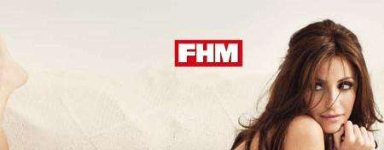 Melanie Olivares al desnudo para 'FHM'.