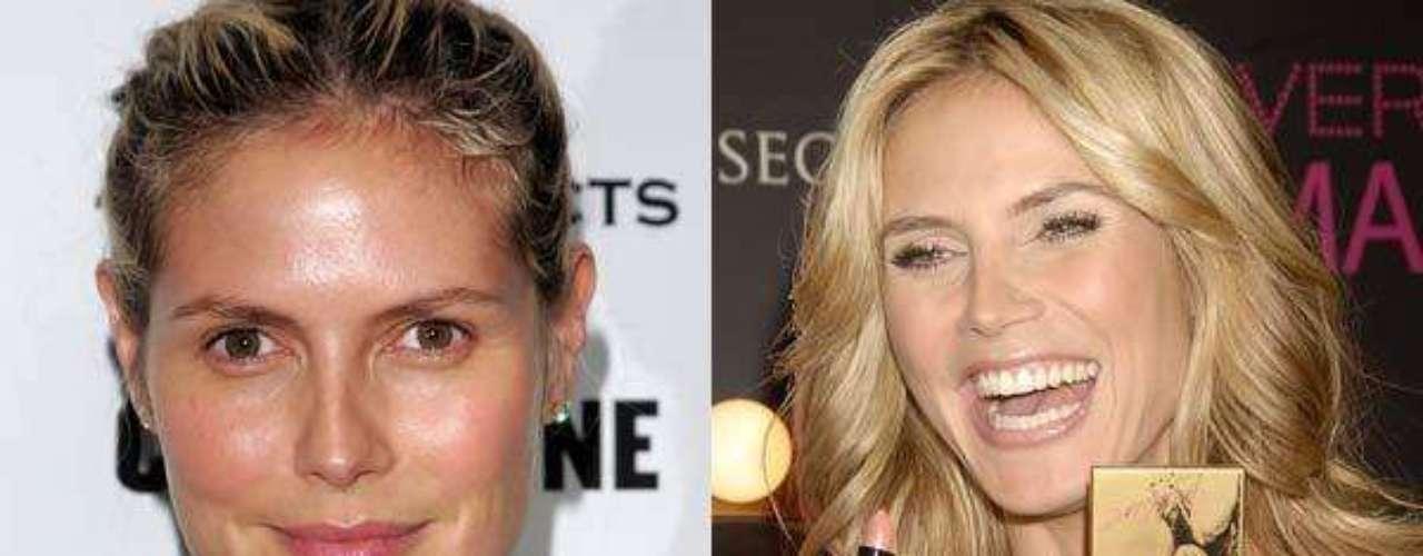 Heidi Klum. La modelo tiene su propia línea de maquillaje y, por eso, la preferimos bien arreglada.