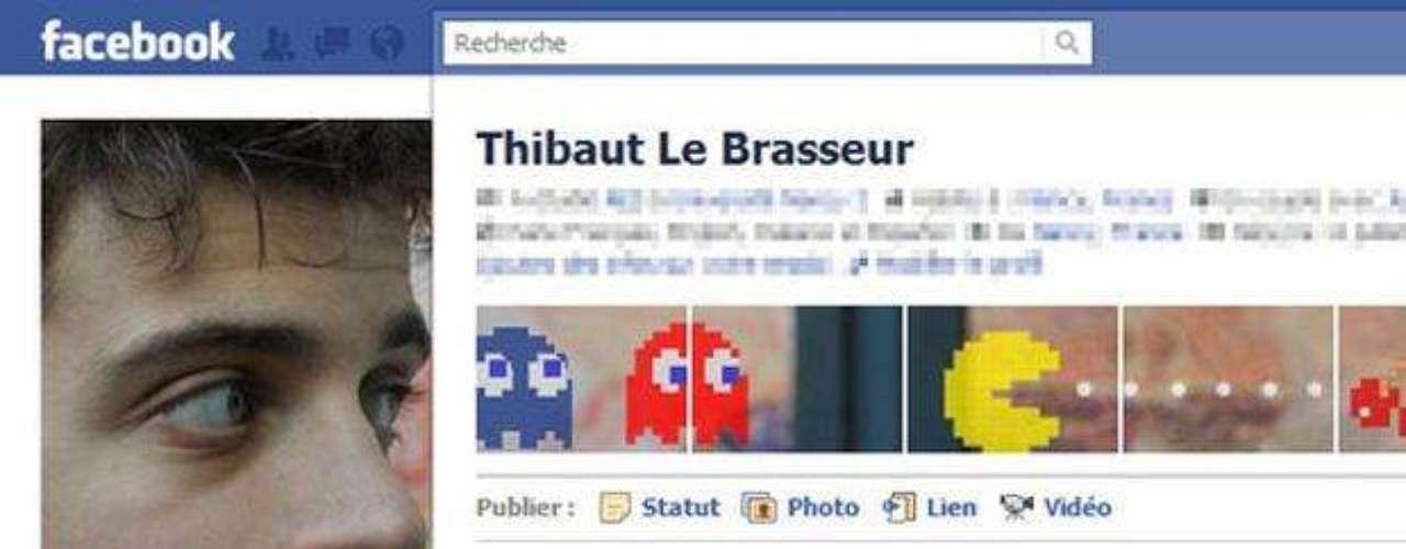 Pac-Man ha invadido la página de perfil Thibaut Le Brasseur con gran efecto.