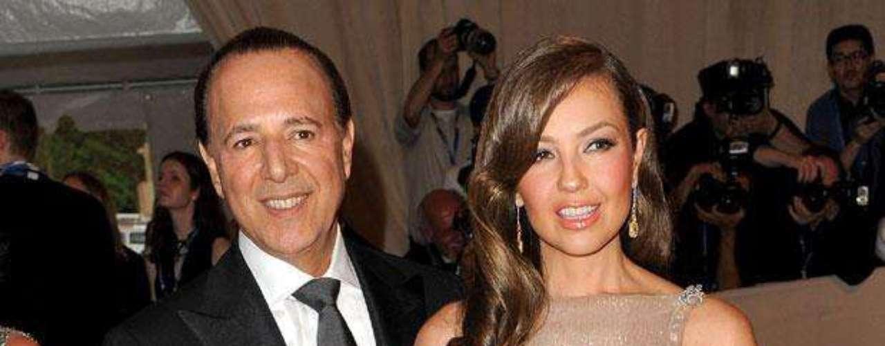 Matrimonio: Tommy Mottola y Thalía.