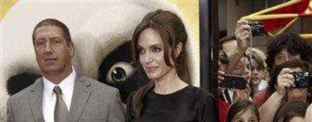 """Cast member Angelina Jolie arrives at the premiere of """"Kung Fu Panda 2"""" in Los Angeles, Sunday, May 22, 2011.  The film opens May 26, 2011. (AP Photo/Matt Sayles)"""