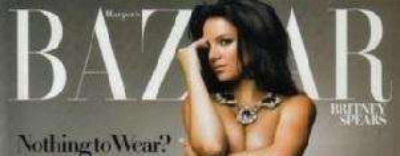 Britney Spears posó desnuda para la revista Bazaar, en su segundo embarazo.