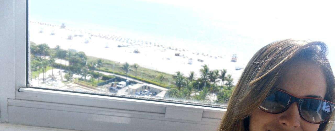 Shannon de Lima, presumiendo otro de sus incontables viajes.