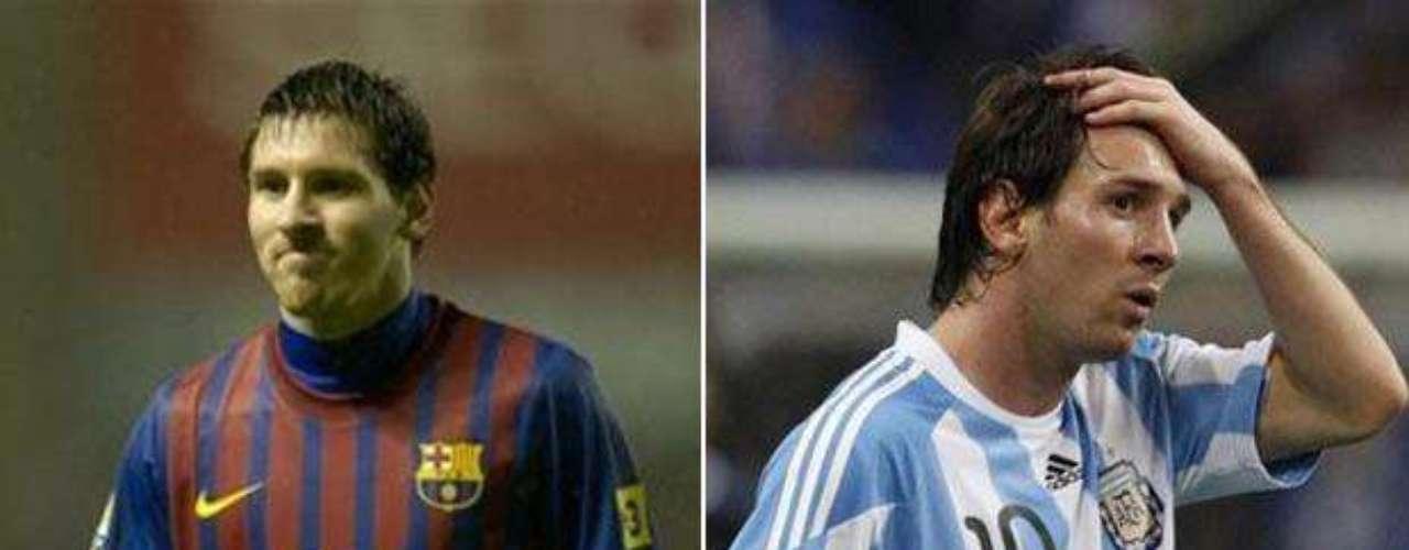 Lionel Messi, estrella indiscutible del Barcelona y figura naciente de la selección argentina.