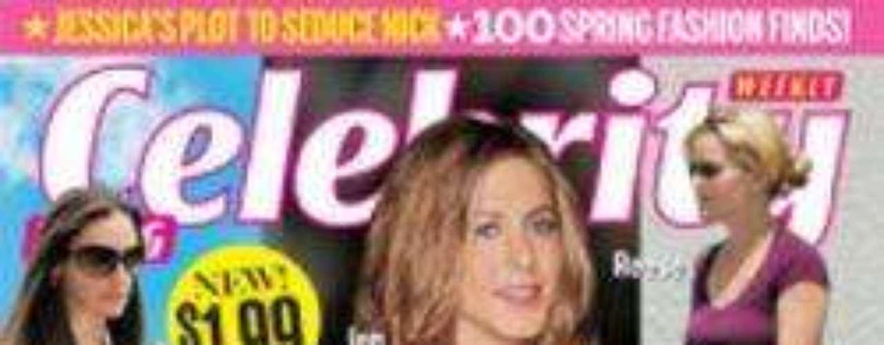 Otro embarazo secreto de Aniston, según la portada de Celebrity.
