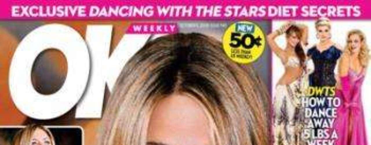 Embarazada a los 40! dice la revista OK.