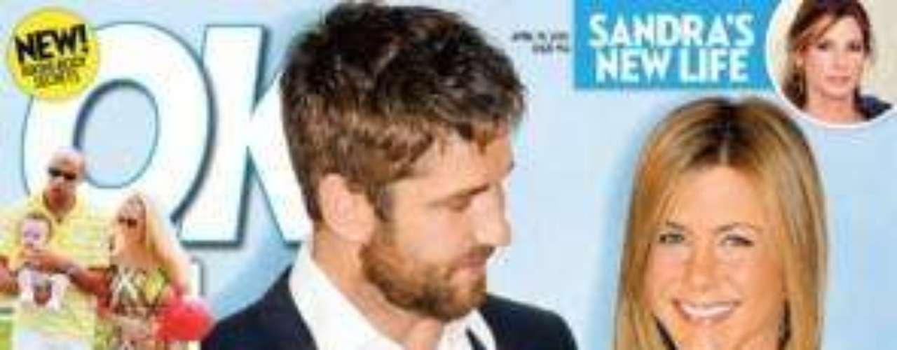 'Un bebé para Jenn', dice la revista OK, en la que la actriz aparece con el actor Gerard Buttler.