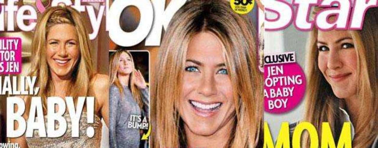 A Jennifer Aniston la embarazó la prensa tantas veces es que difícil de recordar. Ante nuevos rumores de embarazo repasamos todas las portadas que anunciaron embarazos de Aniston pero que nunca fueron ciertos