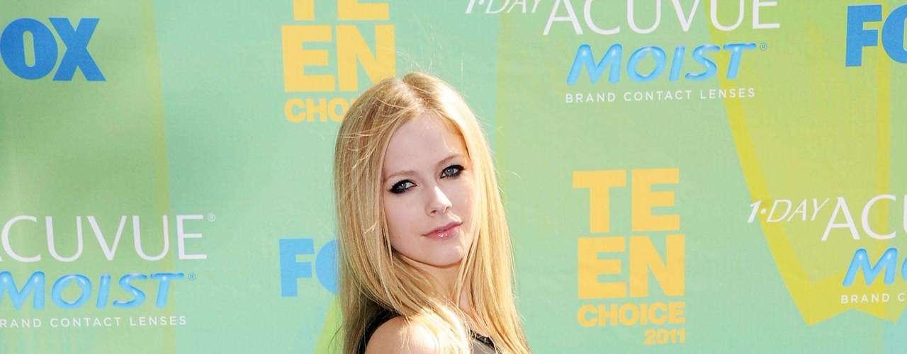 Avril Lavigne es una gran rockera de 1,56 m.