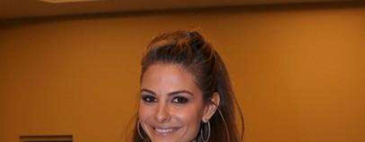 Maria Menounos lució el jerser de Brady, en definitiva no tuvo suerte en la noche