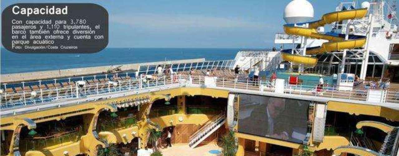 Con el cupo a tope, el Costa Concordia podía albergar 3.780 pasajeros y 1.110 tripulantes.