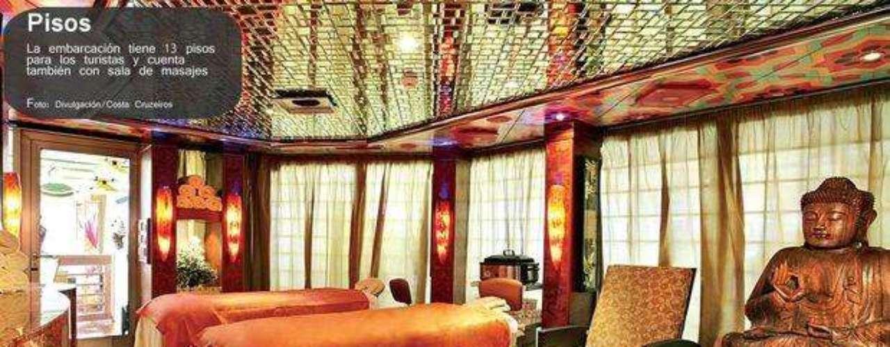 La embarcación tenía 13 pisos, parque acuático y una de las más lujosas salas de masajes del mundo.