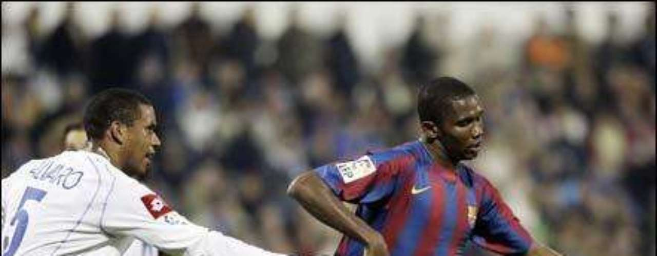 Samuel Eto'o tried to abandon a game against Zaragoza after he received racist insults while playing for Barcelona.