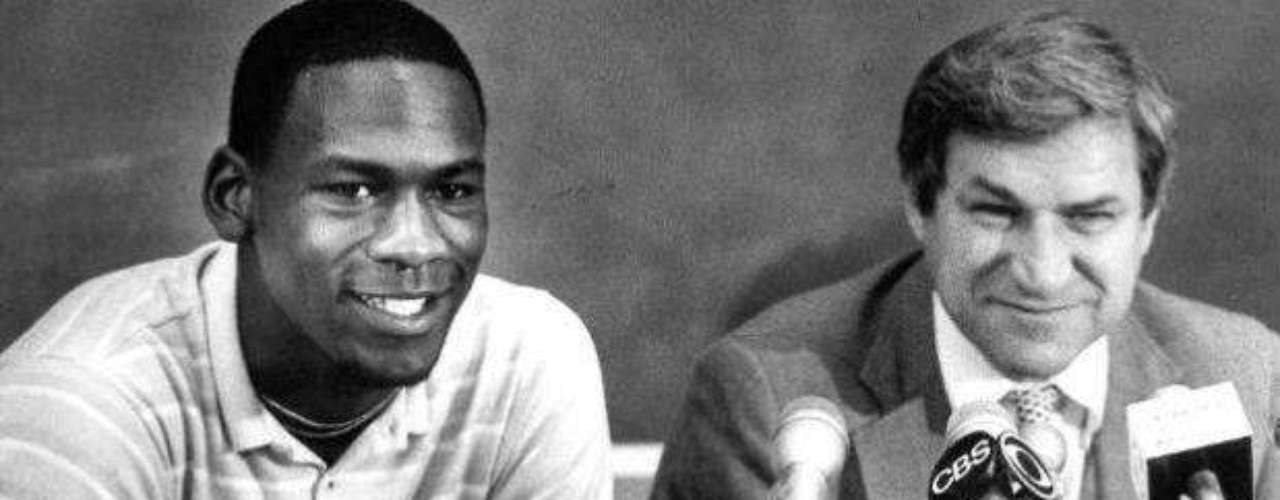 Michael Jordan was given a scholarship at the University of North Carolina under coach Dean Smith.