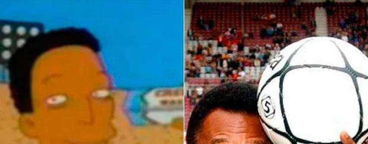 En una visita de la familia Simpson a Brasil, pudieron ver a el 'Rey' Pelé