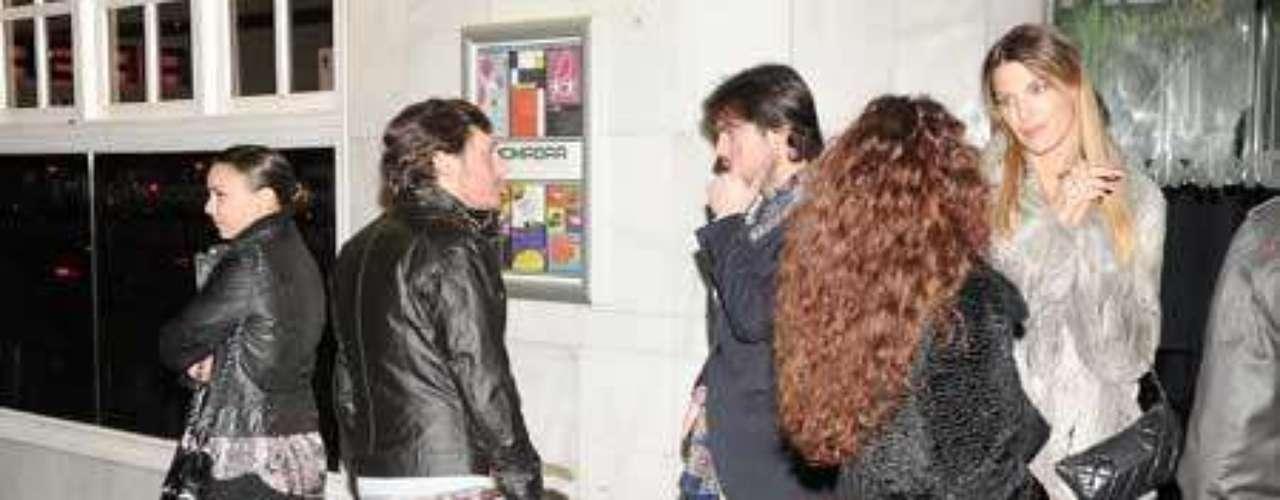 Chenoa y Curi Gallardo coincidieron en la noche madrileña.