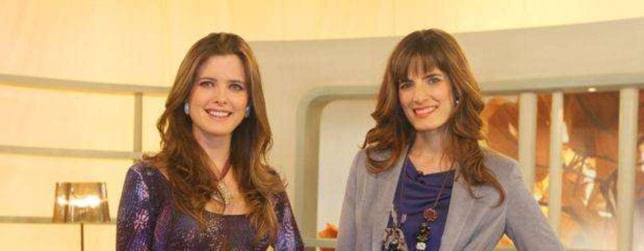 """Ana María Picasso y Antonia del Solar en el set de """"Oh Diosas!""""."""
