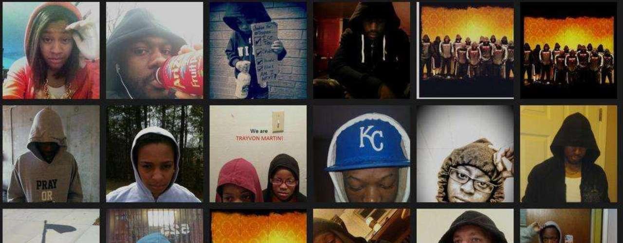 La muerte de Trayvon Martin, el joven de 17 años que fue asesinado por un vigilador voluntario, quien creyó que Trayvon era una amenaza por tener su capucha puesta, además de ser afroamericano, desató una ola de protestas. En internet, la gente muestra su apoyo usando sus capuchas y acompañando la foto con la frase: \