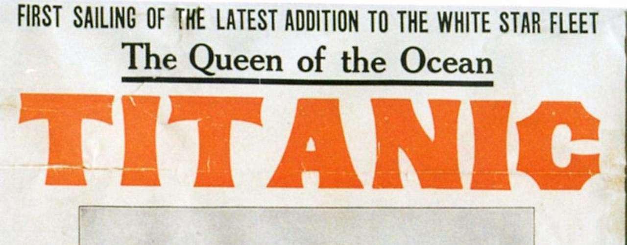 Un cartel preparado por la oficina de la White Star Line en Nueva York, para promocionar el viaje del Titanic de regreso de Nueva York, prevista para el 20 de abril 1912.