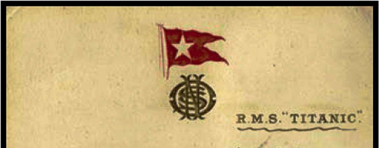 Menú para los pasajeros a bordo del RMS Titanic del 14 de abril 1912.