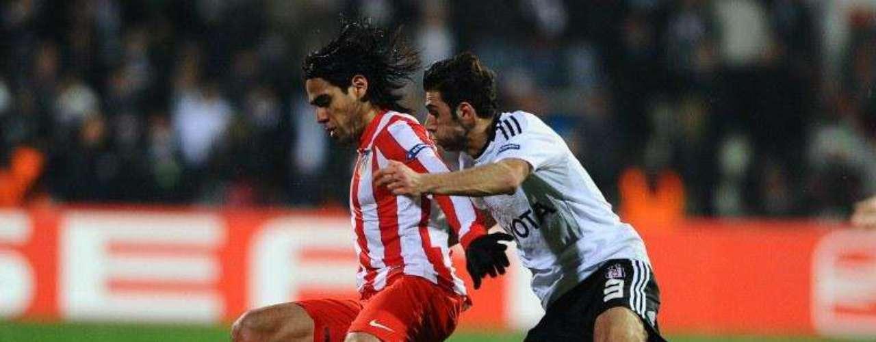 Por los octavos de final en el partido de vuelta que se jugó el pasado 15 de marzo de 2012 en el estadio BJK Inonu Stadyumu de Estambul. Marcó en el minuto 83 y el Atlético terminó clasificando gracias a haber sumado seis goles en el globa ante uno hecho por Besiktas
