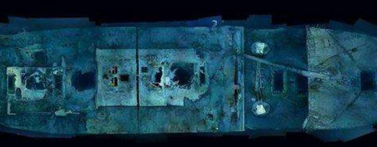 Las primeras panorámicas completas del legendario pecio: Las etéreas imágenes de la proa del Titanic ofrecen una riqueza de detalles antes nunca vista. Cada uno de los fotomontajes se compone de 1.500 imágenes de alta resolución, rectificadas con datos de sonar.