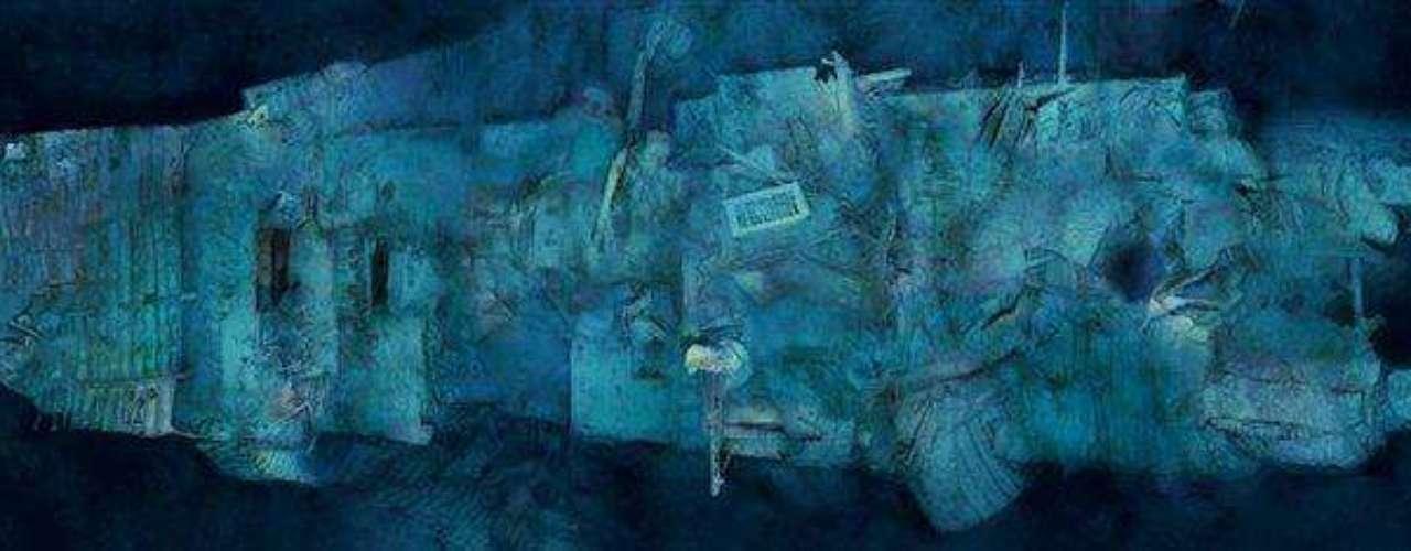 Las primeras panorámicas completas del legendario pecio: La popa del Titanic vista desde arriba. Identificar esta maraña de metal plantea a los expertos una serie interminable de desafíos. «Para interpretar este material, hay que ser un fanático de Picasso», dice uno de ellos.