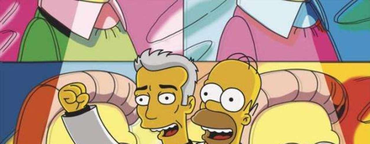 David Byrne fue 'uno mismo' con 'Homero Simpson'.