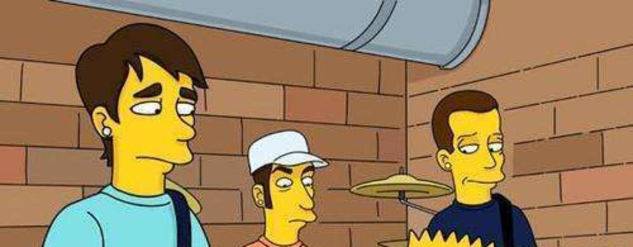 Blink 182 rockeó al lado de 'Bart'.