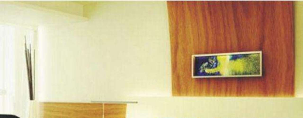 Una de las habitaciones del Hotel Boca Juniors muestra los colores azul y amarillo, característicos de la institución.