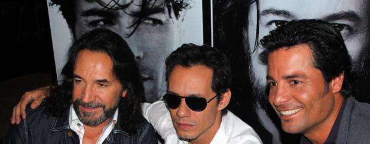 Marco Antonio Solís, Marc Anthony, y Chayanne,  presentaron \
