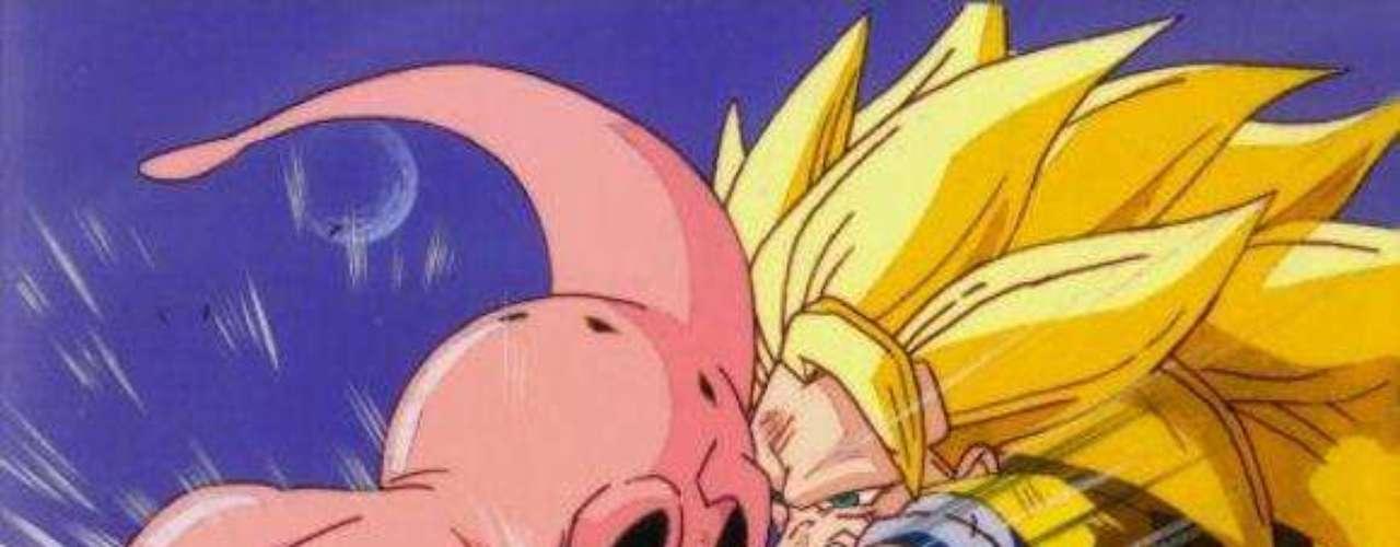 Finalmente, en el planeta de los Supermo Kaio-sama, es que se enfrentan, Gokú en su transformación del Súper Saiyajin Fase 3 y Boo.