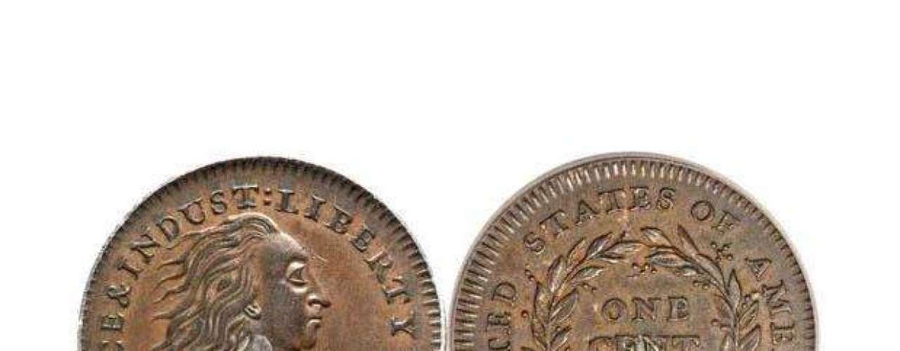 En la imagen puede ver al centavo que, en realidad, vale 1,15 millones de dólares. Al menos, eso es lo que pagó un hombre, por esta moneda casi única, acuñada en 1972. La moneda está fabricada de cobre y enmarca un punto pequeño de plata y sólo hay 14 en el mundo.