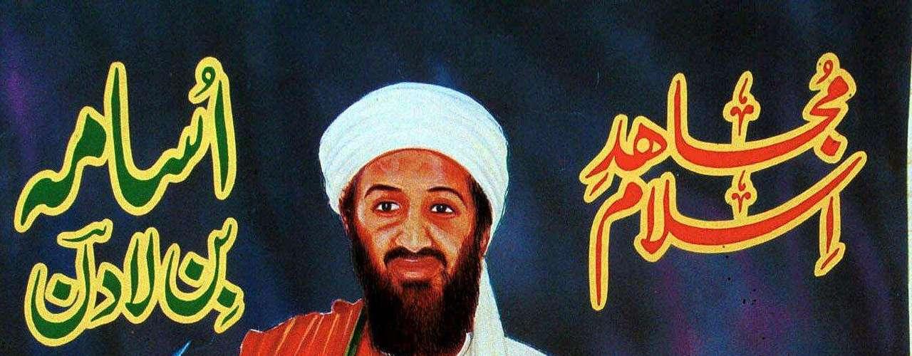 Así lucía bin Laden en un póster dado a conocer en septiembre de 1999 en Afganistán.