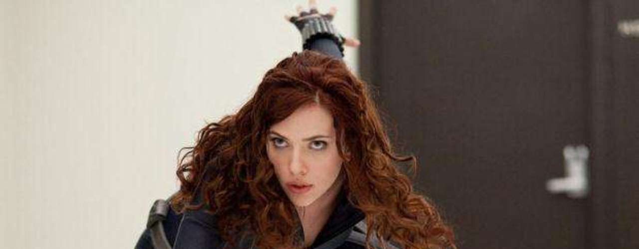 Scarlett Johansson como Black Widow.