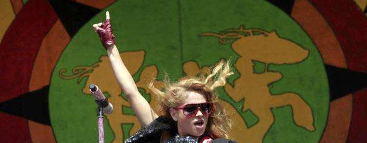 La diva se lució en el escenario del Congo Square el sábado 5 de mayo de 2012.